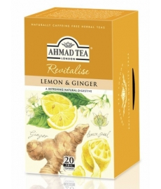 Čaj AHMAD TEA LONDON - Citron se zázvorem - porcovaný 20 ks