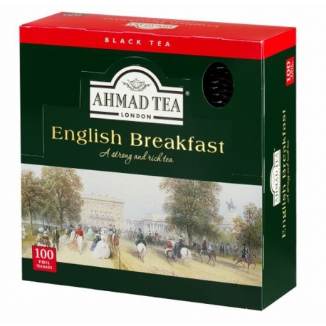 Čaj AHMAD TEA LONDON - English Breakfast porcovaný 100 ks