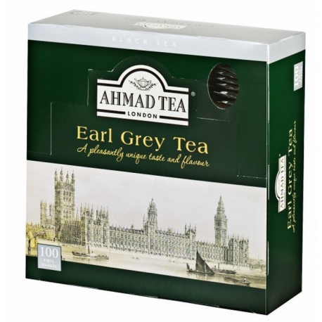 Čaj AHMAD TEA LONDON - Earl Grey porcovaný 100 ks