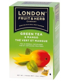 Čaj London Fruit&Herbs- zelený s mangem 20 ks