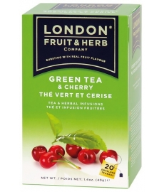 Čaj London Fruit&Herbs- zelený s višní 20 ks