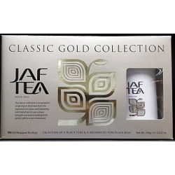 JAF TEA GOLD COLLECTION 50 ks +hrnek