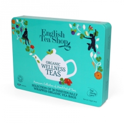 English Tea Shop plechová kazeta WELLNESS modrá 36 ks
