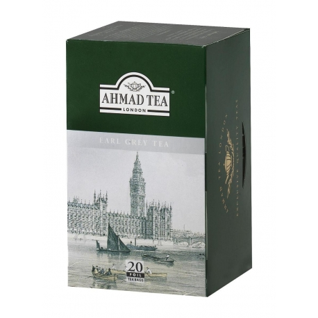 Čaj AHMAD TEA LONDON - černý čaj EARL GREY- porcovaný 20 ks